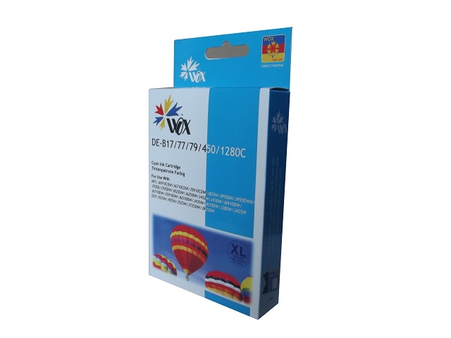 Compatible Brother LC77XL (LC73XL) Cyan ink cartridge