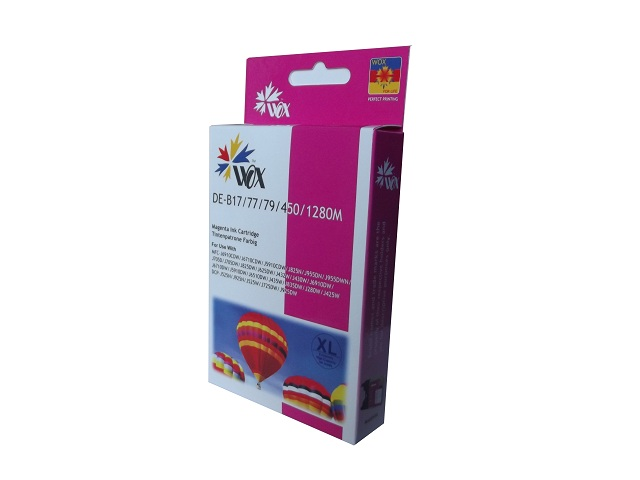 Compatible Brother LC77XL (LC73XL) Magenta ink cartridge