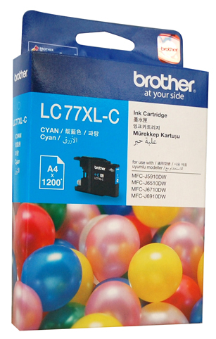 Genuine Brother LC77XL-C (Cyan) ink cartridge
