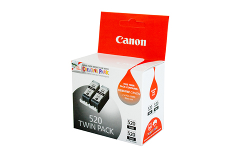 Genuine Canon PGI-520BK (Black) Twin Pack ink cartridge