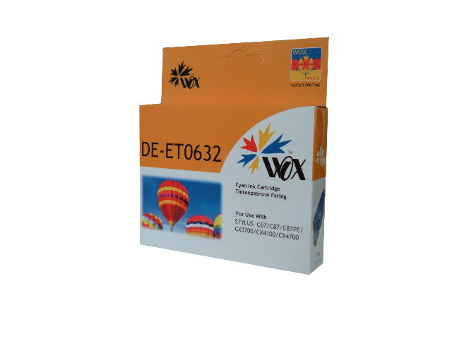 Compatible Epson T0632 (Cyan) ink cartridge
