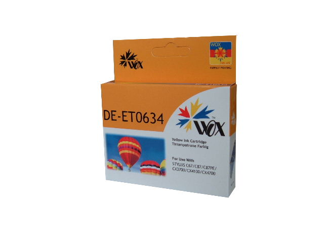 Compatible Epson T0634 (Yellow) ink cartridge