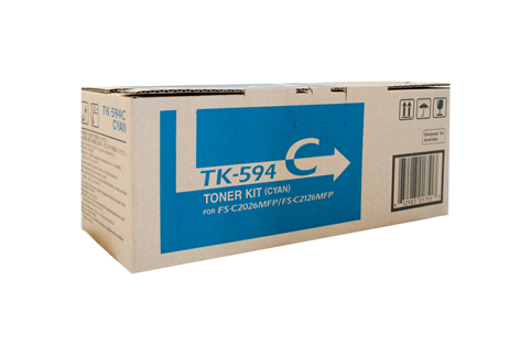 Genuine Kyocera TK-594 Cyan toner Cartridge