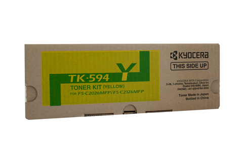 Genuine Kyocera TK-594 Yellow toner Cartridge