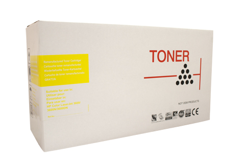 Remanufactured HP502A Yellow toner cartridge (Q6472A)