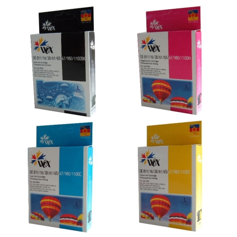 Set of 4 compatible Brother LC38/LC67 (BK/C/M/Y) ink cartridges