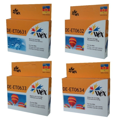 Compatible Epson T0631/2/3/4 Ink Cartridges 4 Pack